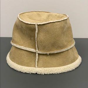 Tan and beige hat